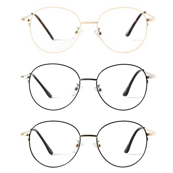 【3color】round clear sunglasses