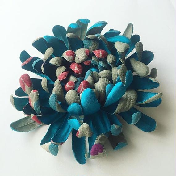 コサージュ&ヘッドドレス /ブルー