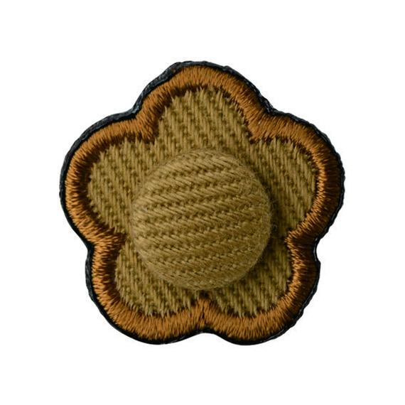 FT04080401 / EMBROIDERY BOUTONNIERE TWILL-  espresso coffee -