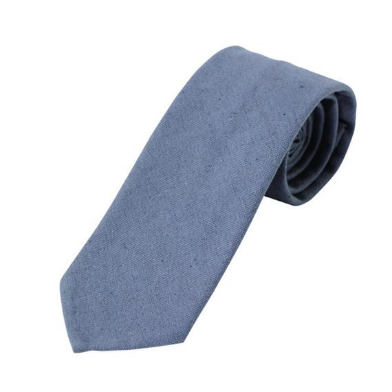 FT04050305 / COTTON LINEN TIE-blueberry-