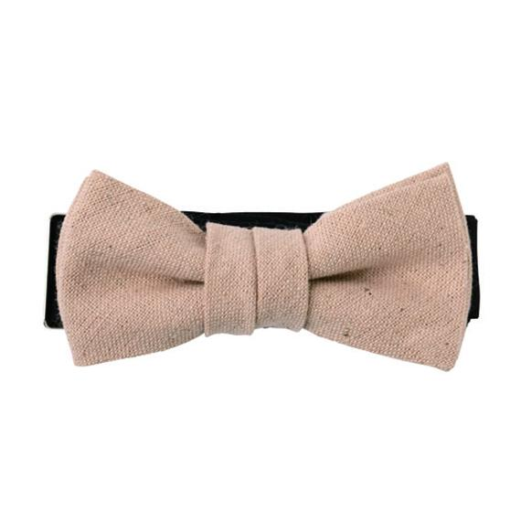 FT04070307 / COTTON LINEN KIDS BOW-persimmon-