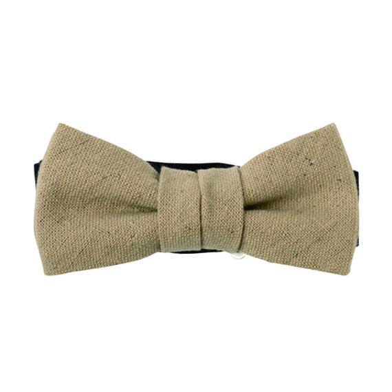 FT04070317 / COTTON LINEN KIDS BOW- echinacea-