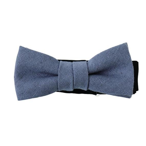 FT04070305 / COTTON LINEN KIDS BOW-blueberry-