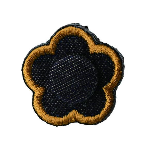 FT04080916 / EMBROIDERY BOUTONNIERE-  denim -