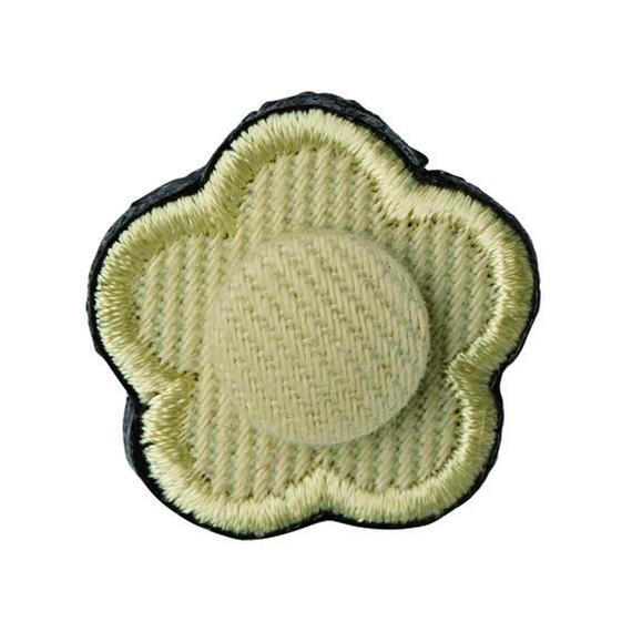 FT04080411 / EMBROIDERY BOUTONNIERE TWILL- lettuce-