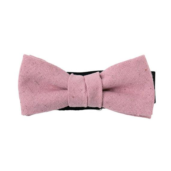 FT04070310 / COTTON LINEN KIDS BOW-purple cabbage-