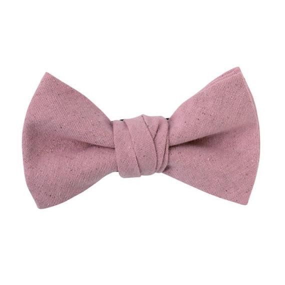 FT04060310 / COTTON LINEN BOW-  purple cabbage -