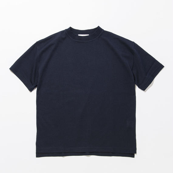 Cotton Silk Knit T-shirts / NAVY