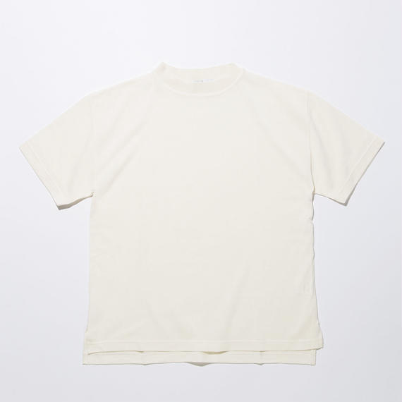 Cotton Silk Knit T-shirts / WHITE