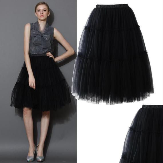 アモーレチュールミディスカート *Black