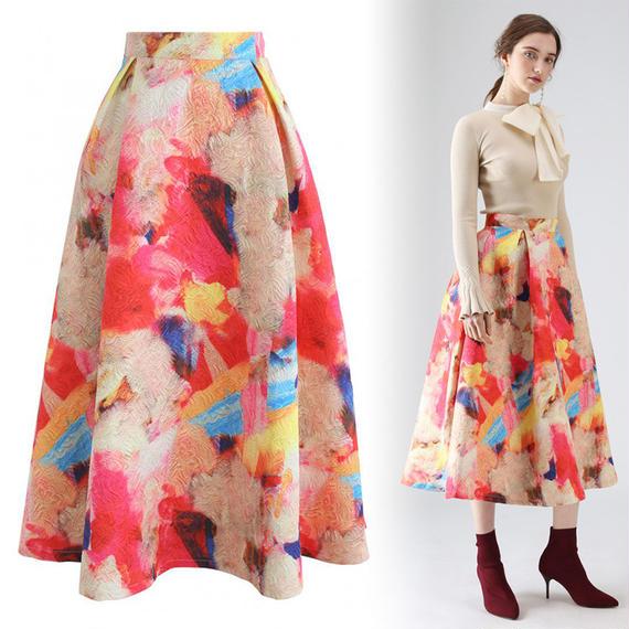 フロリッドウォーターカラースカート