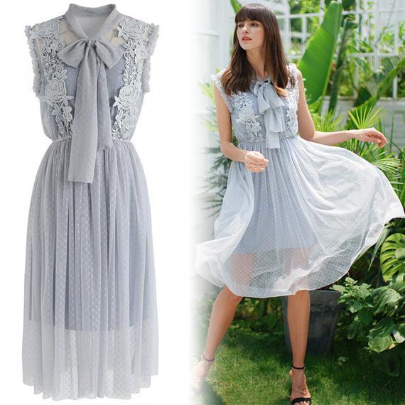 デイドリームメッシュノースリーブドレス