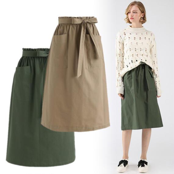 ボターインタイムAラインポケットスカート