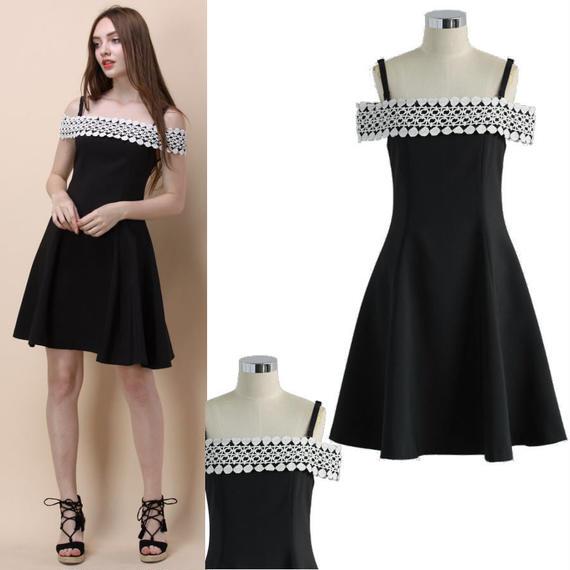 キャロルブラックシックキャミドレス