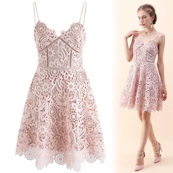 フルフローラルクロッシェキャミドレス