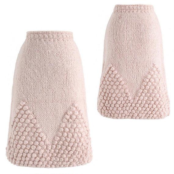 ポンポンハンドニットスカート