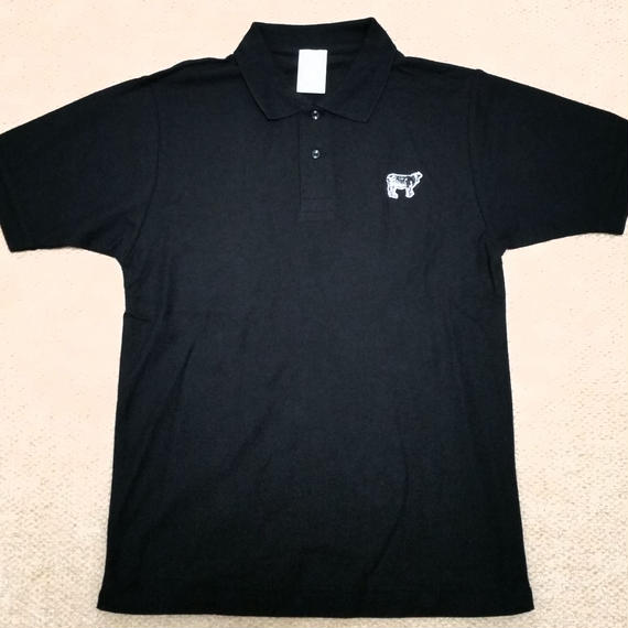 Happy Field Records Polo-Shirt(Black)