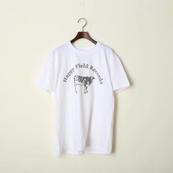 Happy Field Records Logo T-shirts(White)
