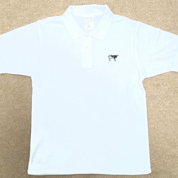 Happy Field Records Polo-Shirt(White)