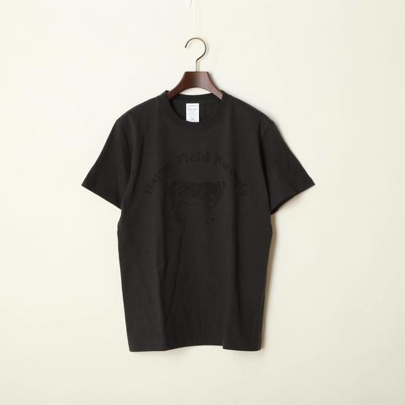Happy Field Records Logo T-shirts(Charcoal Grey)