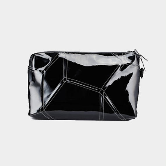 Ball's Material Clutch Bag/サッカーボールレザー ブラックxホワイト