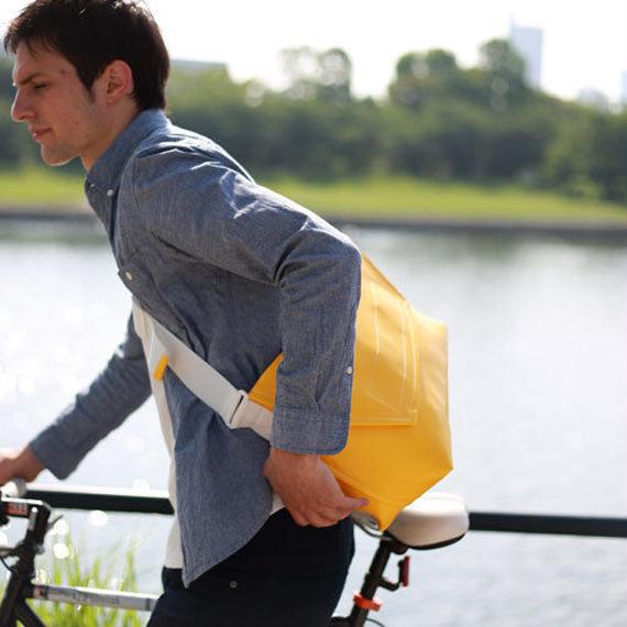 Volleyballer's Messenger Bag (R)/バレーボール パンチングレザー イエロー