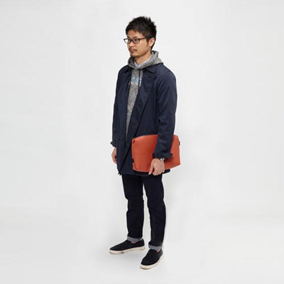 014 CLUTCH BAG _brown