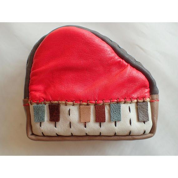 楽器ポーチ piano 赤 (小)