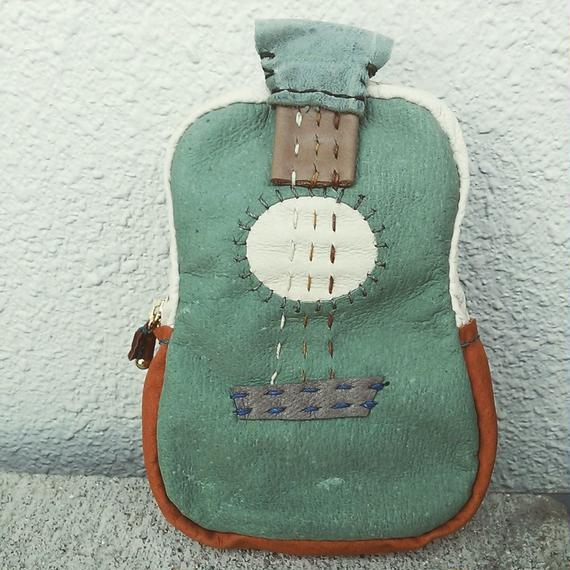 楽器ポーチ guitar グリーン(大)