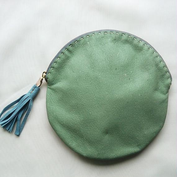 マル・ポーチ(大)green×gold