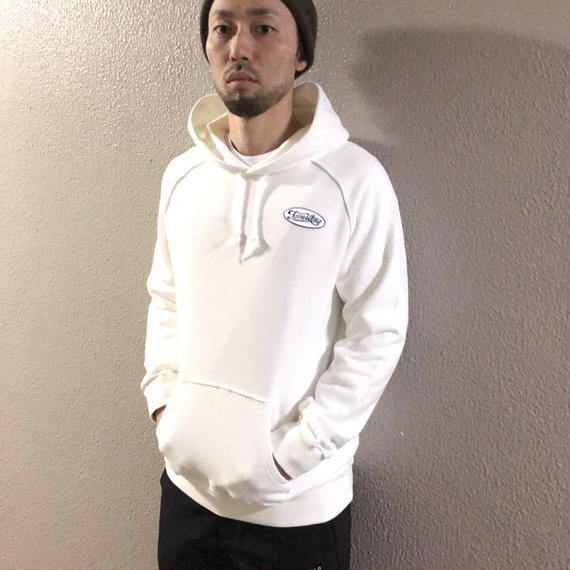Reflective piping logo hoodie / F1136S19