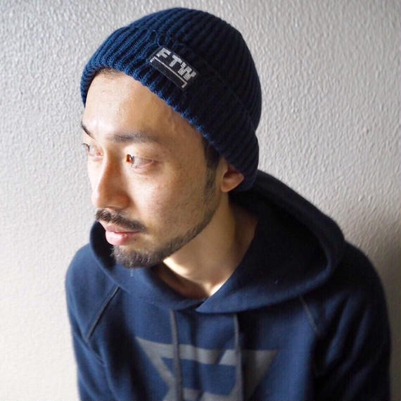 Brushed cotton beanie
