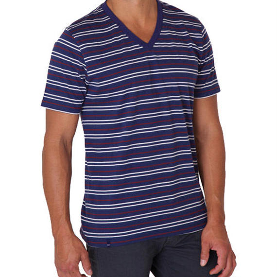 PACT/パクト【S13-MSV-AMS】メンズ Tシャツ MEN'S-V- NECK-AMERICANA STRIPE