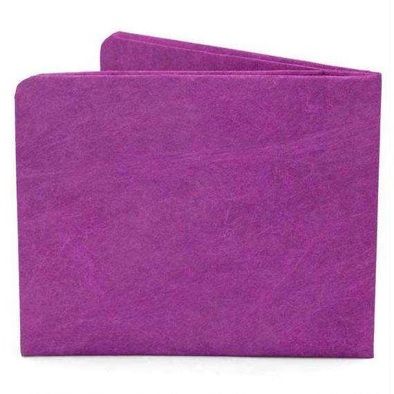 【SOL009PUR】paperwallet/ペーパーウォレット-Solid Wallet-PURPLE タイベック素材 紙の財布