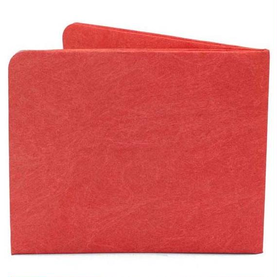 【SOL004RED】paperwallet/ペーパーウォレット-Solid Wallet-RED タイベック素材 紙の財布