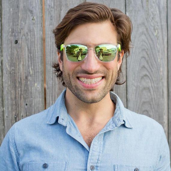 SUNSKI/サンスキー【SUN-OR-LI】Originals Sunglasses Clear/Lime オリジナル・サングラス 偏光レンズ ミラーレンズ仕様 蛍光色 クリア/ライム