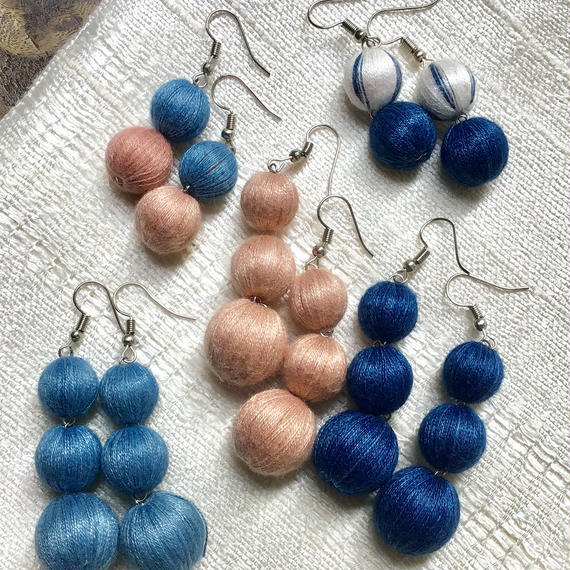HANDMADE COTTON BALL EARRINGS⁣ ⁣