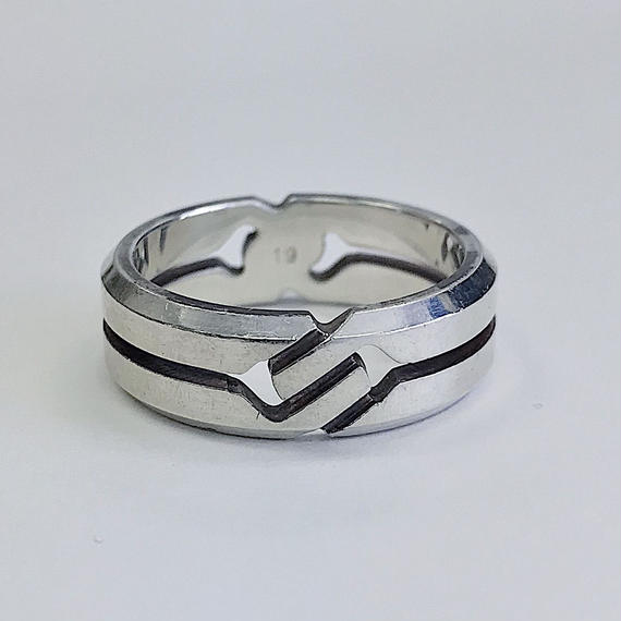 ≪Vintage GUCCI≫SILVER RING 19号    7-2288015113368