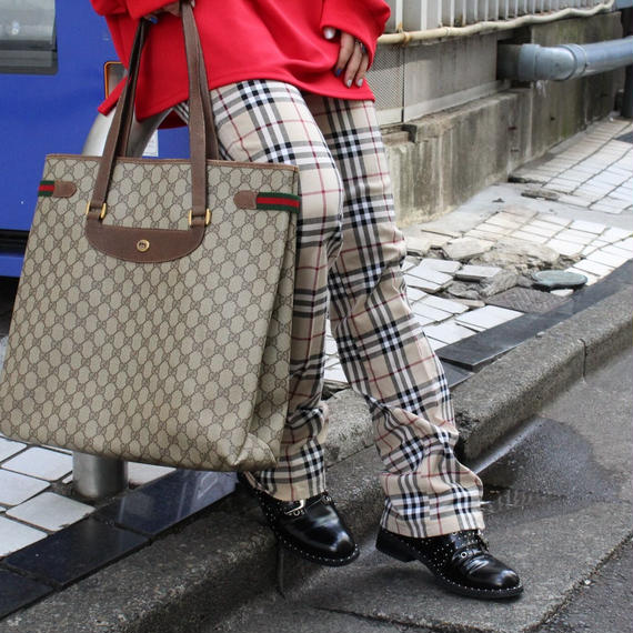 《Vintage GUCCI》GG SHELLY TOTE