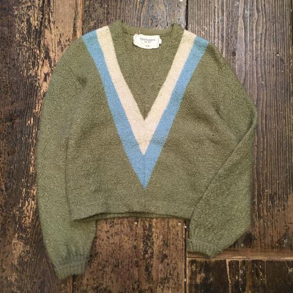 [USED] Vintage Vネックセーター