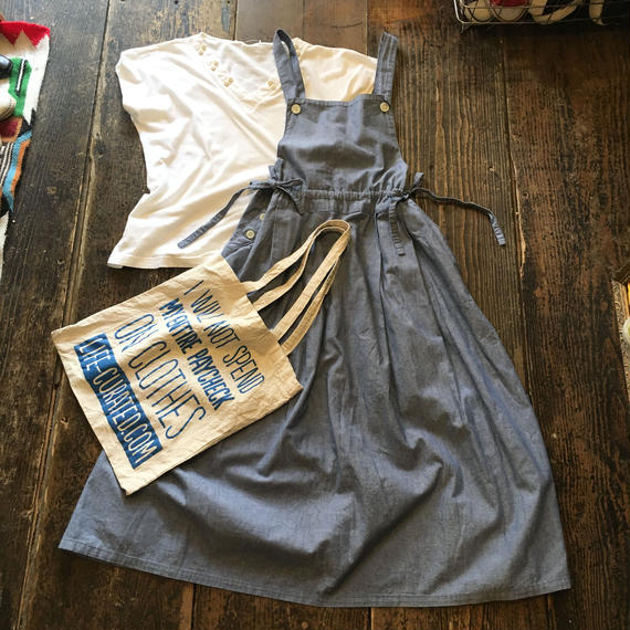[USED] シャンブレー素材ジャンパースカート