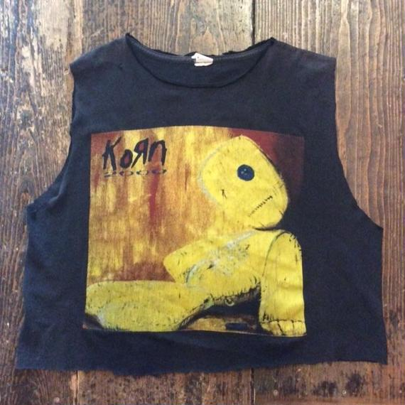 [USED] KOЯN カットオフ Tシャツ