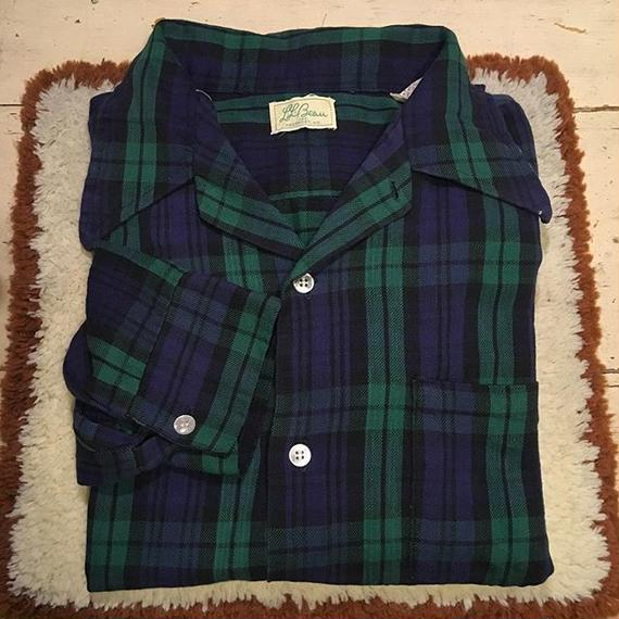 [USED] 60's vintage 筆記体 L.L.Bean COTTON CHECK SHIRTS
