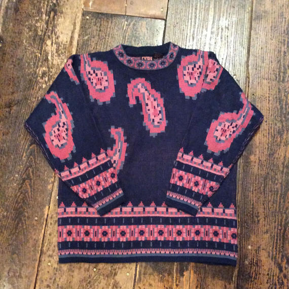 [USED]  ペイズリー柄 KNIT
