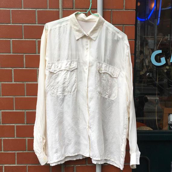 [USED] ふわっとシンプルSILKシャツ