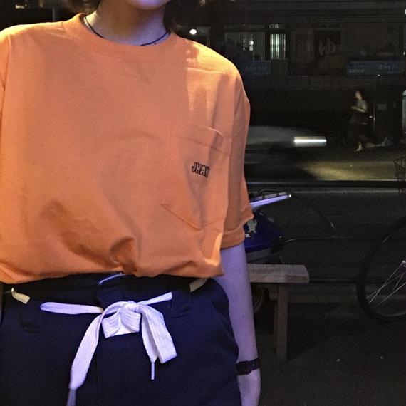 [JHAKX] Embroidery Pocket Tee