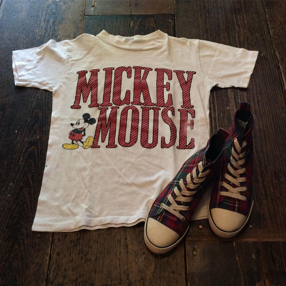 [USED] MICKEY MOUSEプリントTee