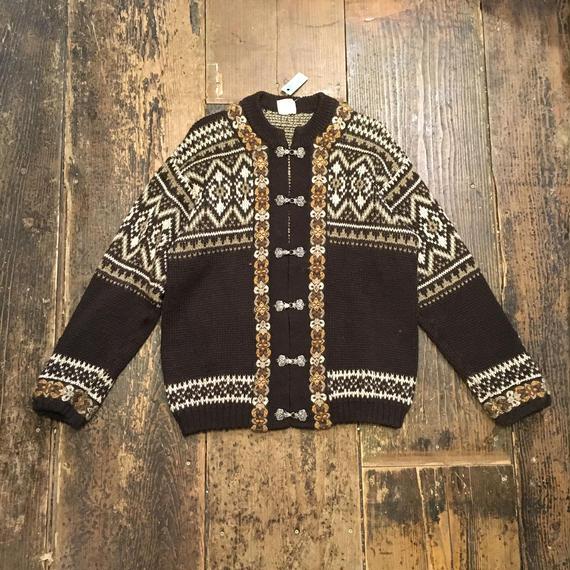 [USED] ノルディック柄セーター♡金具付き