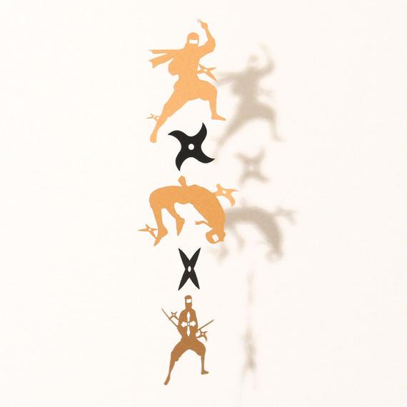 忍者手裏剣「GOLD」#paper ornament