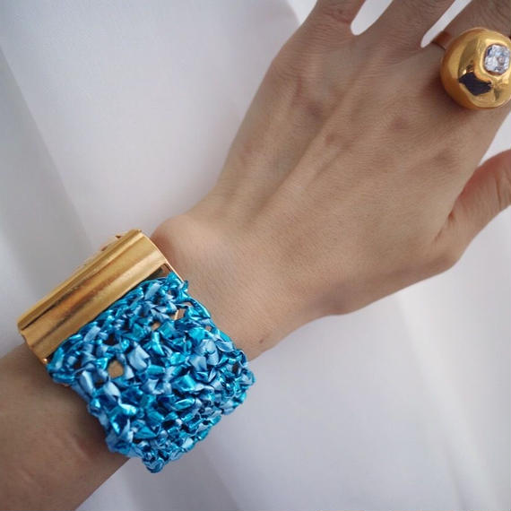 Knit Bangle Turquoise
